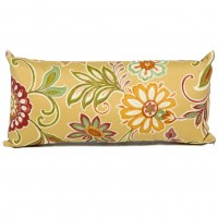 TK Classics Golden Floral Outdoor Lumbar Pillow TKCL1090