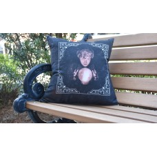 The Holiday Aisle Maser All Seeing Psychic Halloween Outdoor Throw Pillow THLY6882