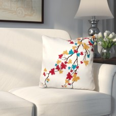 Three Posts Marshallton Hues Floral Outdoor Throw Pillow THRE6873