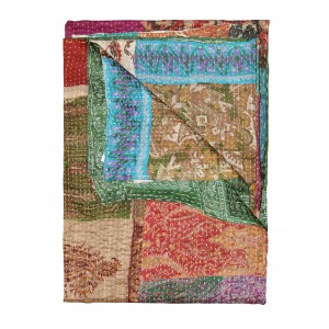 Bungalow Rose Fabio Eclectic Kantha Silk Throw BGRS3874