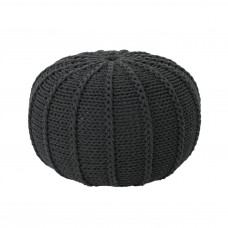 Gracie Oaks Bryant Maag Knitted Pouf GRCS7994